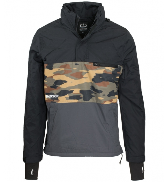 d1a48ef1a15 Emerson Ανδρικό Αθλητικό Μπουφάν Fw18 Men'S Pull-Over Jacket With Roll-In  Hood EM10.48