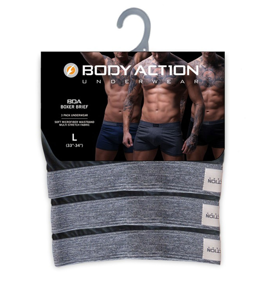e492119e6563 Body Action Ανδρικό Εσώρουχο Fw18 Men 3-Pack Boxer Briefs 093810 ...