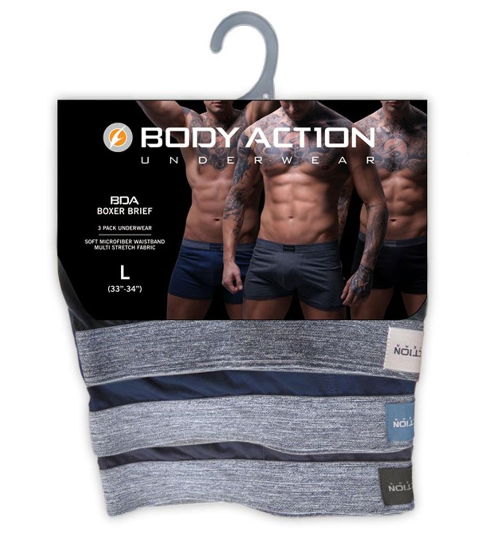 Body Action Ανδρικό Εσώρουχο Fw18 Men 3-Pack Boxer Briefs 093810