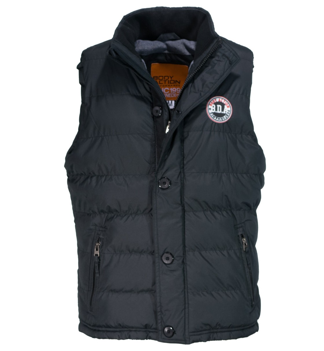 Body Action Men Mock Neck Quilted Vest