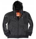 Body Action Ανδρική Ζακέτα Με Κουκούλα Men Thick Fleece Zip Hoodie 073820