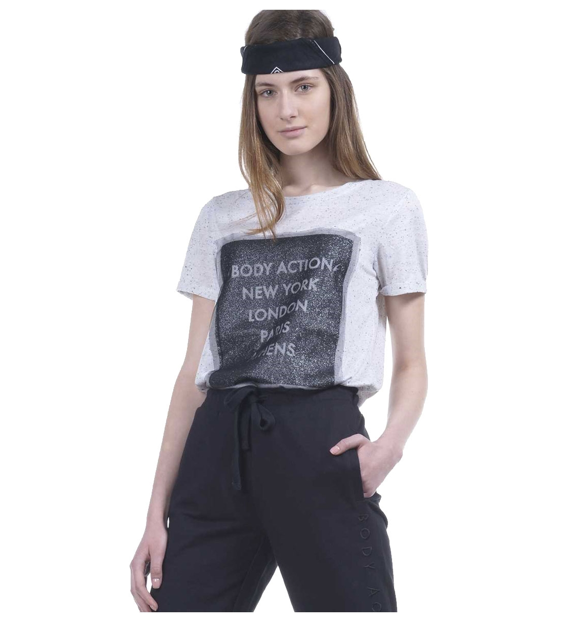 Body Action Ss19 Women Mesh Long Line T-Shirt