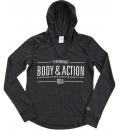 Body Action Γυναικεία Μακρυμάνικη Μπλούζα Women V Neckline Hoodie 061731