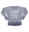Body Action Γυναικεία Μακρυμάνικη Μπλούζα Women Bat Style Top 061733