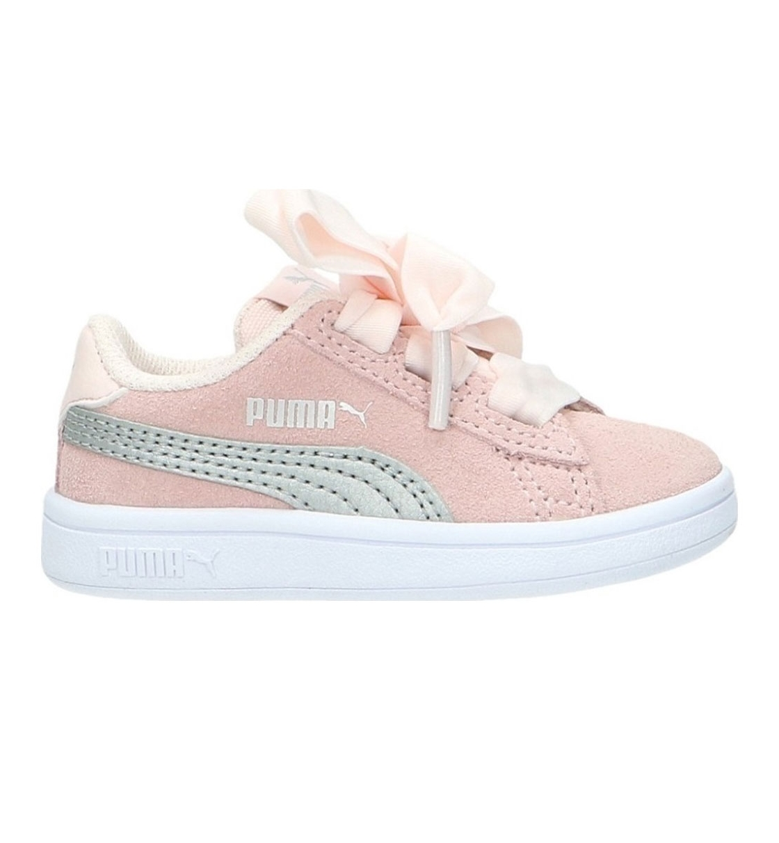 Puma Bebe Παπούτσι Μόδας Smash V2 Ribbon Ac Inf 366005