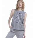 Body Action Ss19 Women Punk Tank Top