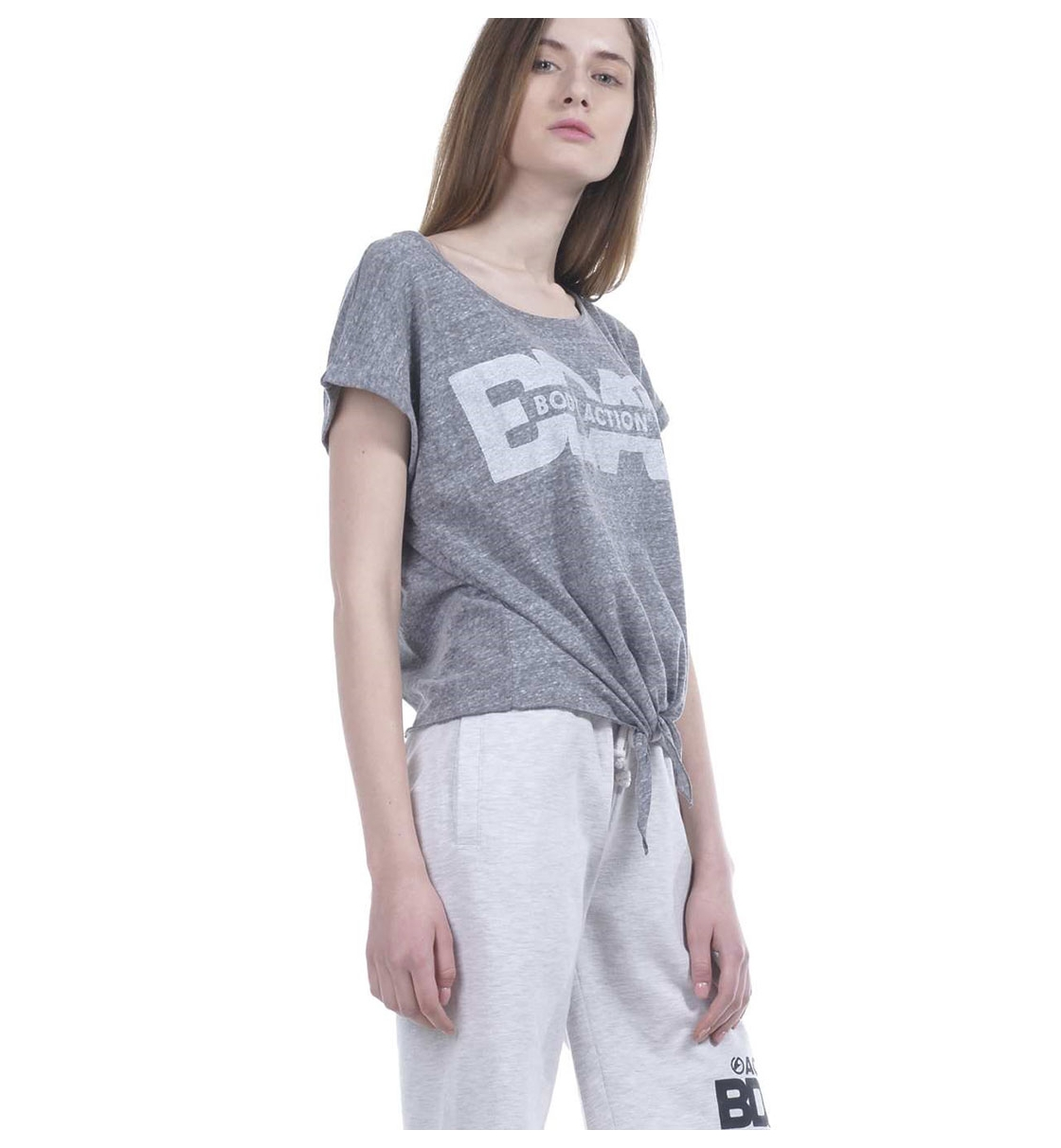 Body Action Ss19 Women Knot Front T-Shirt