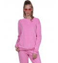 Body Action Fw18 Women Velour Pullover Sweatshirt