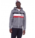 Body Action Fw19 Men Tri Color Zip Hoodie