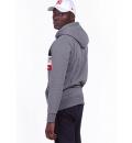 Body Action Ανδρική Ζακέτα Με Κουκούλα Fw19 Men Tri Color Zip Hoodie 073919