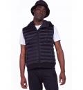 Body Action Fw19 Men Zip-Through Padded Vest With Hood