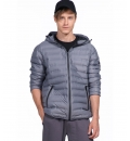 Body Action Fw19 Men Quilt Padded Jacket With Hood