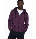 Body Action Fw19 Men Thick Fleece Zip Hoodie