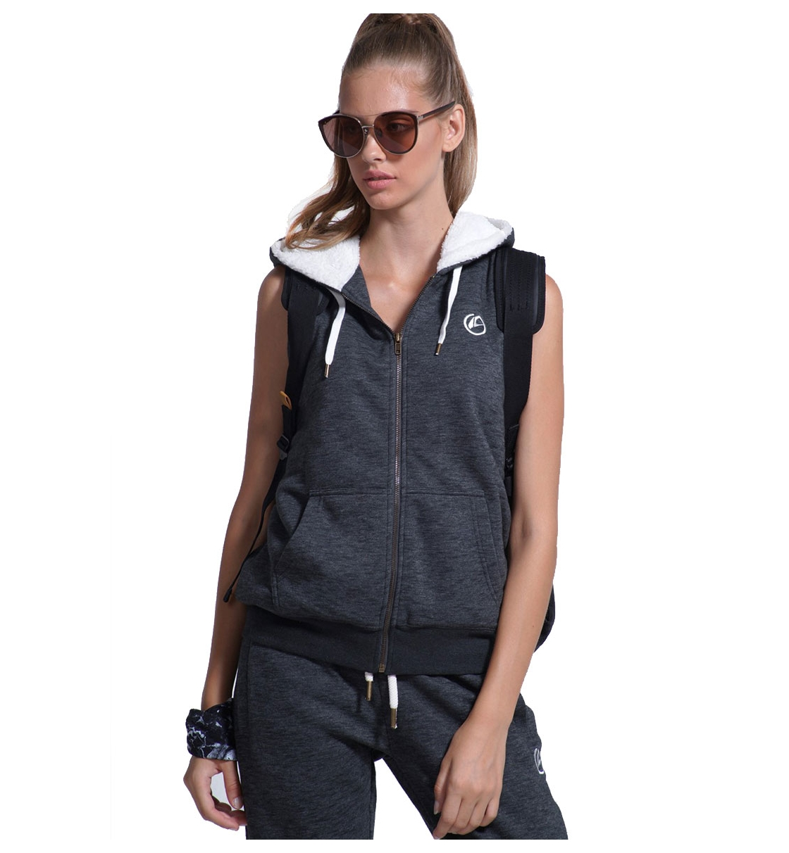Body Action Fw18 Women Fur Lined Vest