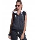 Body Action Γυναικεία Ζακέτα Με Επένδυση Γούνας Και Κουκούλα Fw18 Women Fur Lined Vest 071824