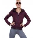 Body Action Γυναικεία Ζακέτα Με Κουκούλα Fw18 Women Thick Fleece Zip Hoodie 071828