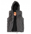 Body Action Γυναικείο Αθλητικό Μπουφάν Αμάνικο Fw18 Women Hooded Quilted Vest 071830