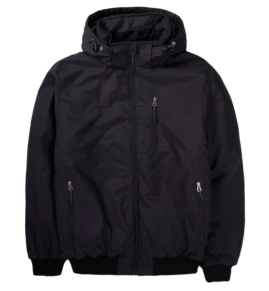 Emerson Fw19 Men'S Ribbed Jacket With Det/Ble Hood