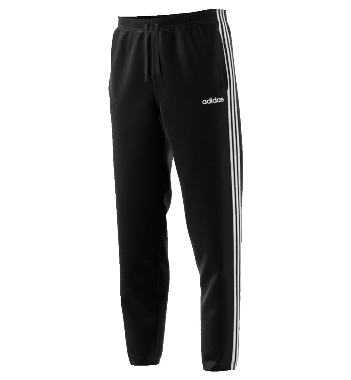 Adidas Fw19 Essentials 3 Stripes Tapered Pant French Terry Open Hem