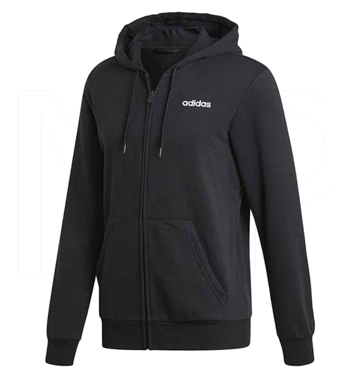 adidas Ανδρικό Φούτερ Με Κουκούλα Fw19 Essentials Plain Fullzip Hoodie DU0383