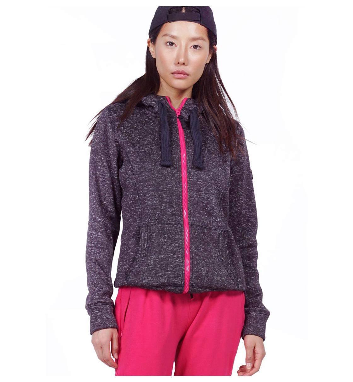 Body Action Γυναικεία Ζακέτα Με Κουκούλα Fw19 Women Thick Fleece Zip Hoodie 071929