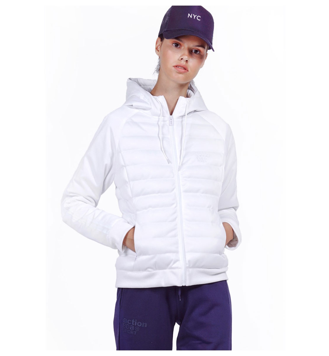 Body Action Fw19 Women Padded Slim Jacket With Hood