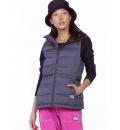 Body Action Fw19 Women Winter Vest With Hood