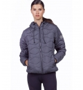 Body Action Fw19 Women Quilt Padded Jacket With Hood