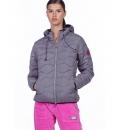 Body Action Γυναικείο Αθλητικό Μπουφάν Fw19 Women Quilt Padded Jacket With Hood 071932