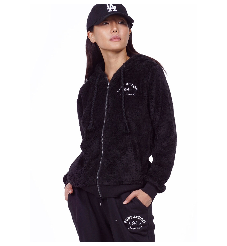 Body Action Fw19 Women Sherpa Hoodie