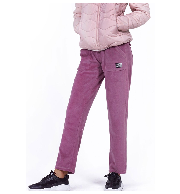 Body Action Fw19 Women Basic Velour Pants