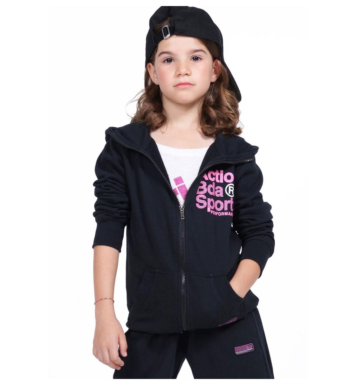 Body Action Fw19 Girls Basic Zip Hoodie