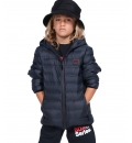 Body Action Fw19 Boys Quilt Padded Jacket With Hood