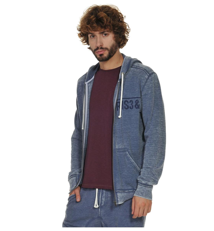 Body Talk Fw17 Risegrindm Hood Zip Sweater