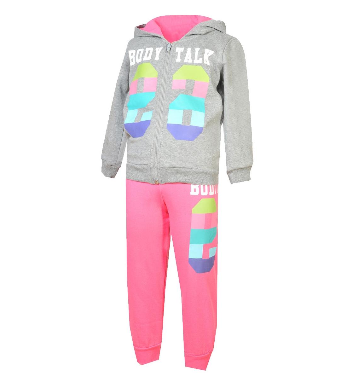 Body Talk Fw15 Colorsinfset Hood Zip Sweater+Pants