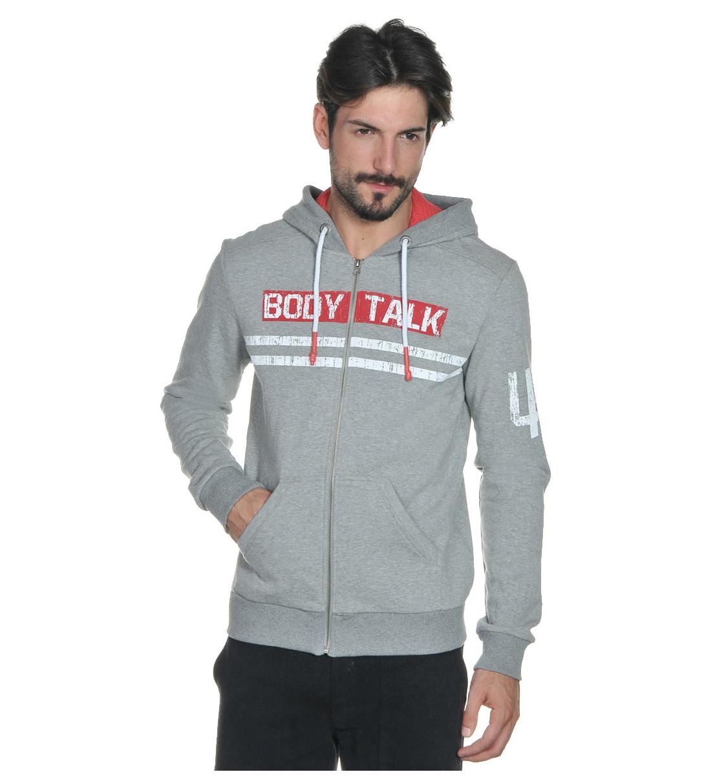 Body Talk Fw15 Bodytalklogom Hood Zip Sweater
