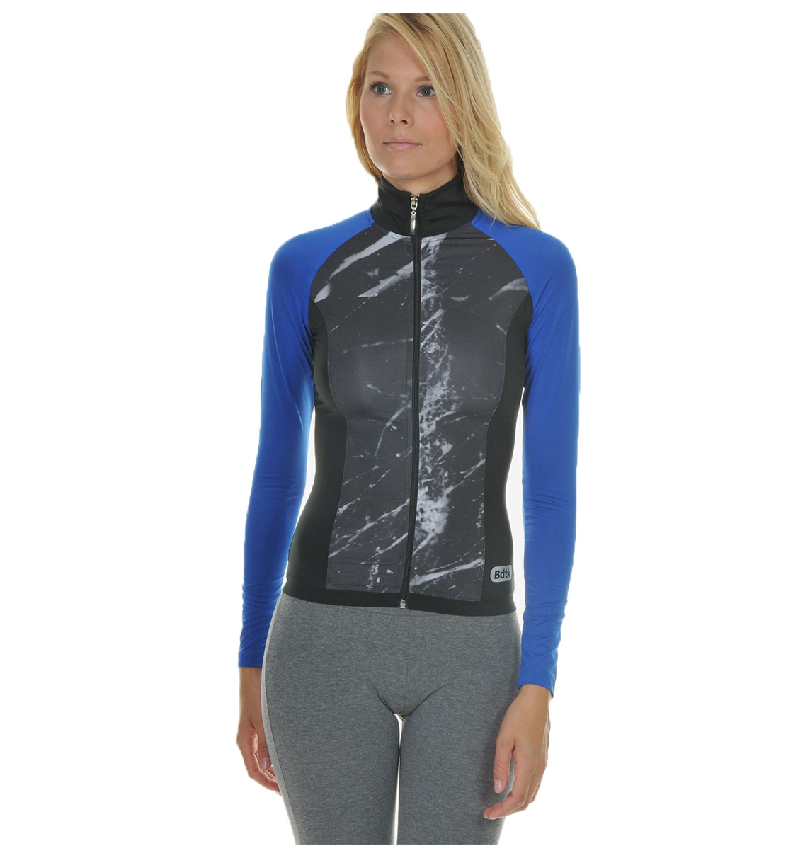 Body Talk Fw16 Marblew Ls Zip Sweater