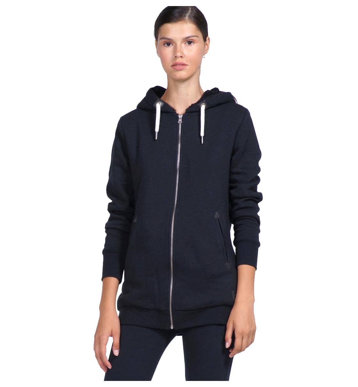 Body Action Γυναικεία Ζακέτα Με Κουκούλα Fw19 Women Fur Lined Long Hoodie 071922