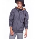 Body Action Ανδρική Ζακέτα Με Κουκούλα Fw19 Men Fur Lined Zip Hoodie 073918
