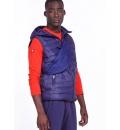 Body Action Fw19 Men Zip-Through Quilted Vest With Hood