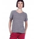 Body Action Γυναικεία Κοντομάνικη Μπλούζα Ss20 Women Crunch V-Neck T-Shirt 051009