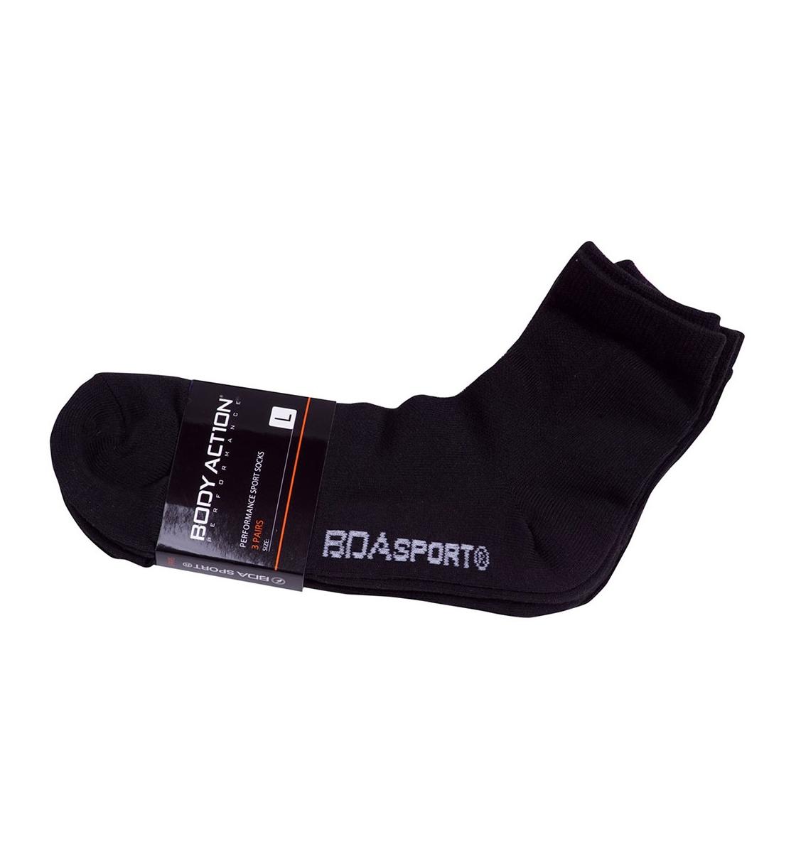 Body Action Ss20 3-Pack Unisex Quarter Socks