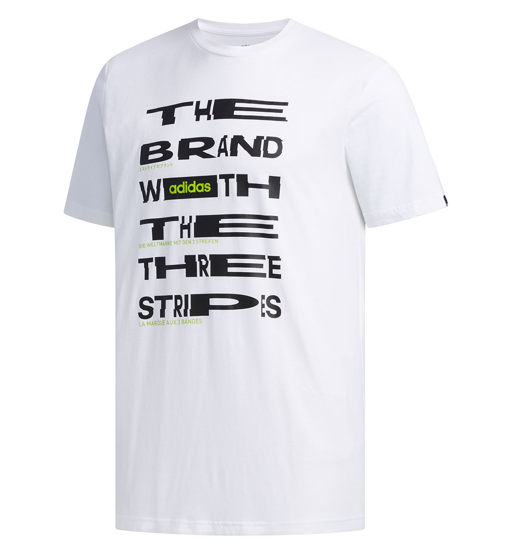 Adidas Ss20 Mens Distorted Font T-Shirt