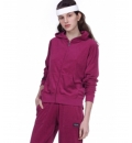 Body Action Ss20 Women Terry Hoodie Jacket