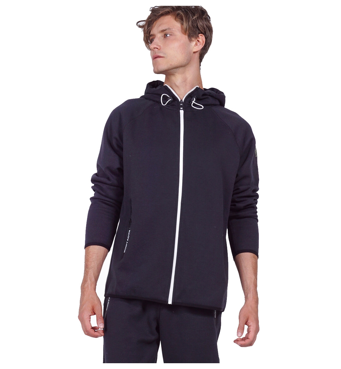 Body Action Fw19 Men Gym Tech Zip Hoodie