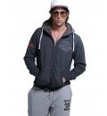 Body Action Ανδρική Ζακέτα Με Κουκούλα Men Zip Through Hoodie 073826