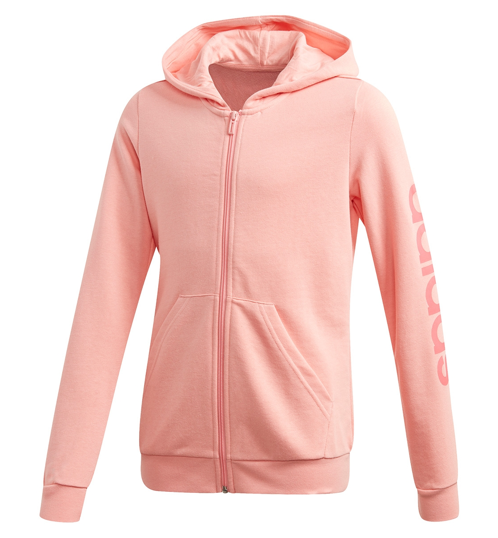 Adidas Fw20 Youth Girls Essentials Linear Full Zip Hoodie