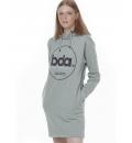 Body Action Γυναικείο Φόρεμα Φούτερ Fw20 Women Oversized Hooded Dress 061004