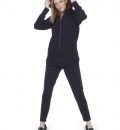 Body Action Fw20 Women Fur Lined Long Hoodie