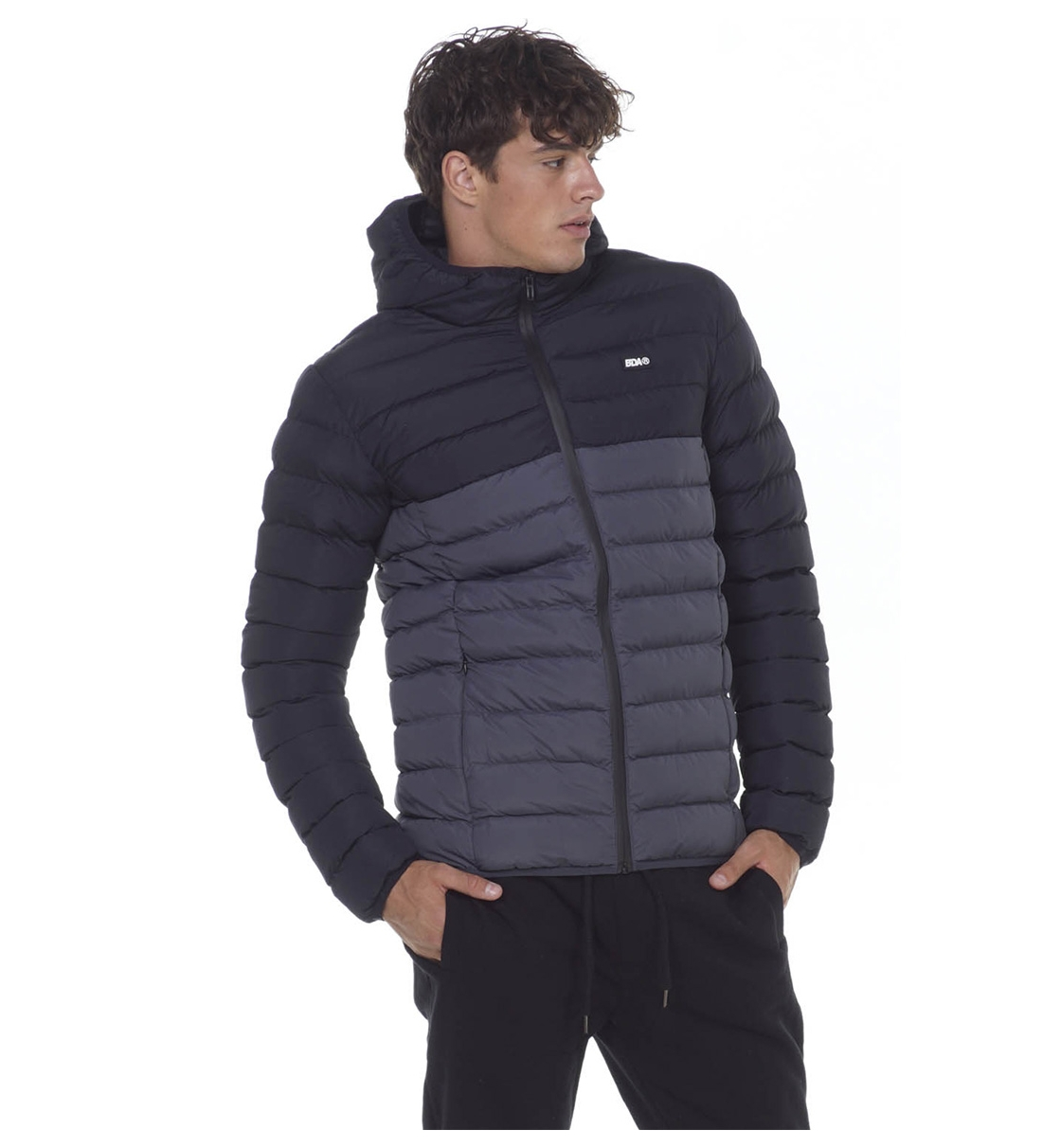 Body Action Fw20 Men Quilted Jacket With Hood